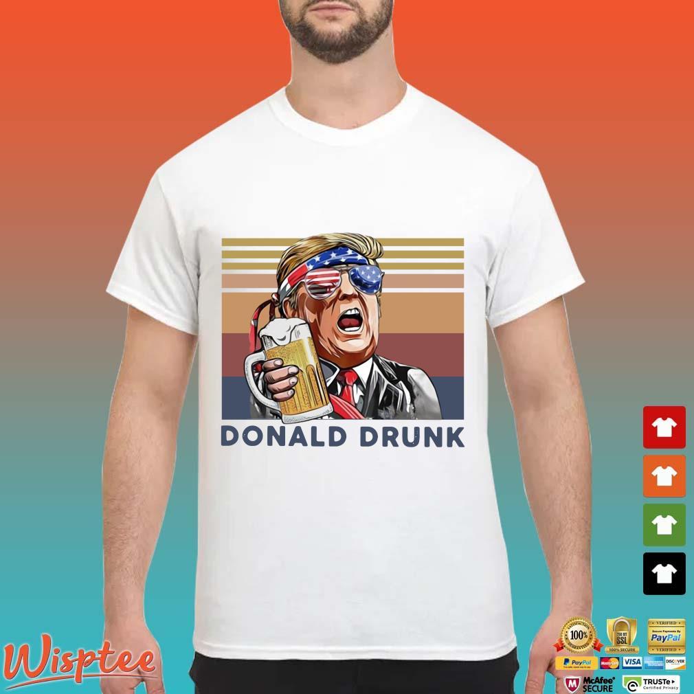 US Drink Donald Drunk Independence Day Vintage Shirt