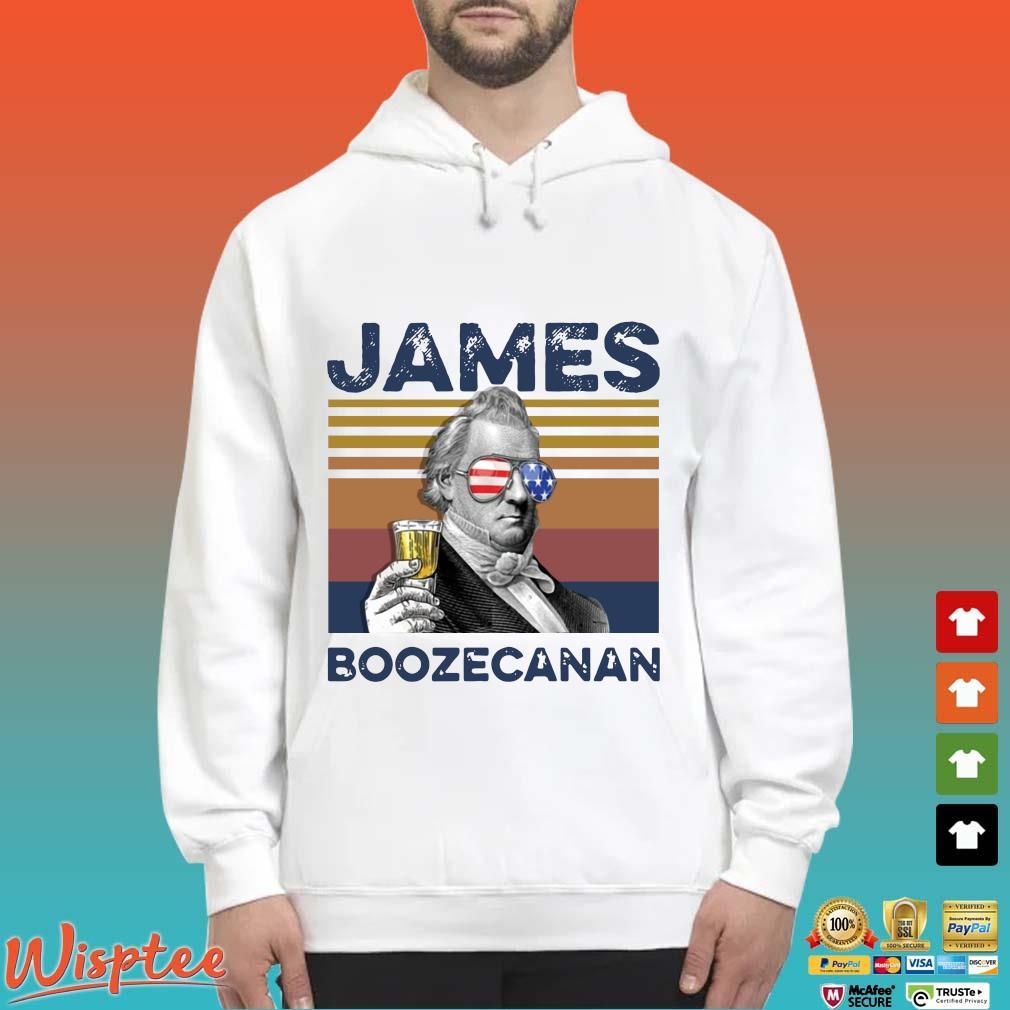 Us Drink James Boozecanan Independence Day Vintage Shirt Hoodie trang