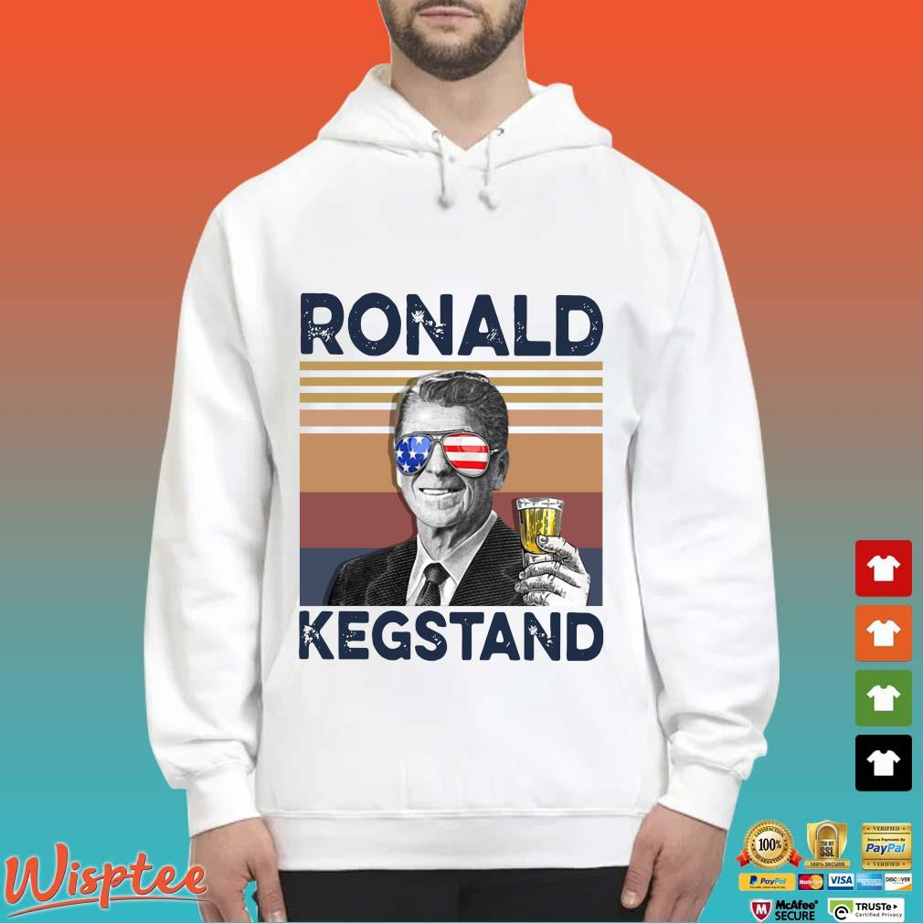 Us Drink Ronald Kegstand Independence Day Vintage Shirt Hoodie trang