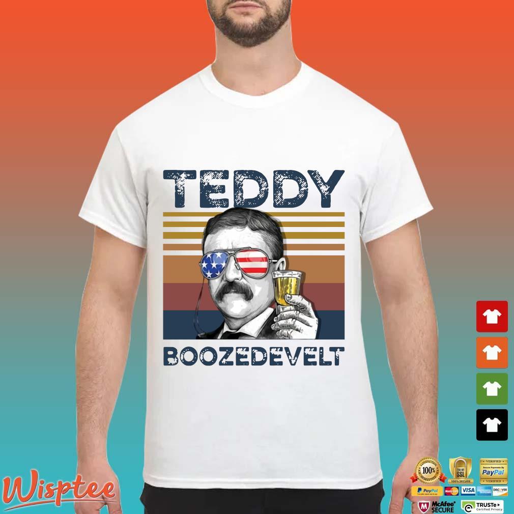 Us Drink Teddy Boozedevelt Independence Day Vintage Shirt