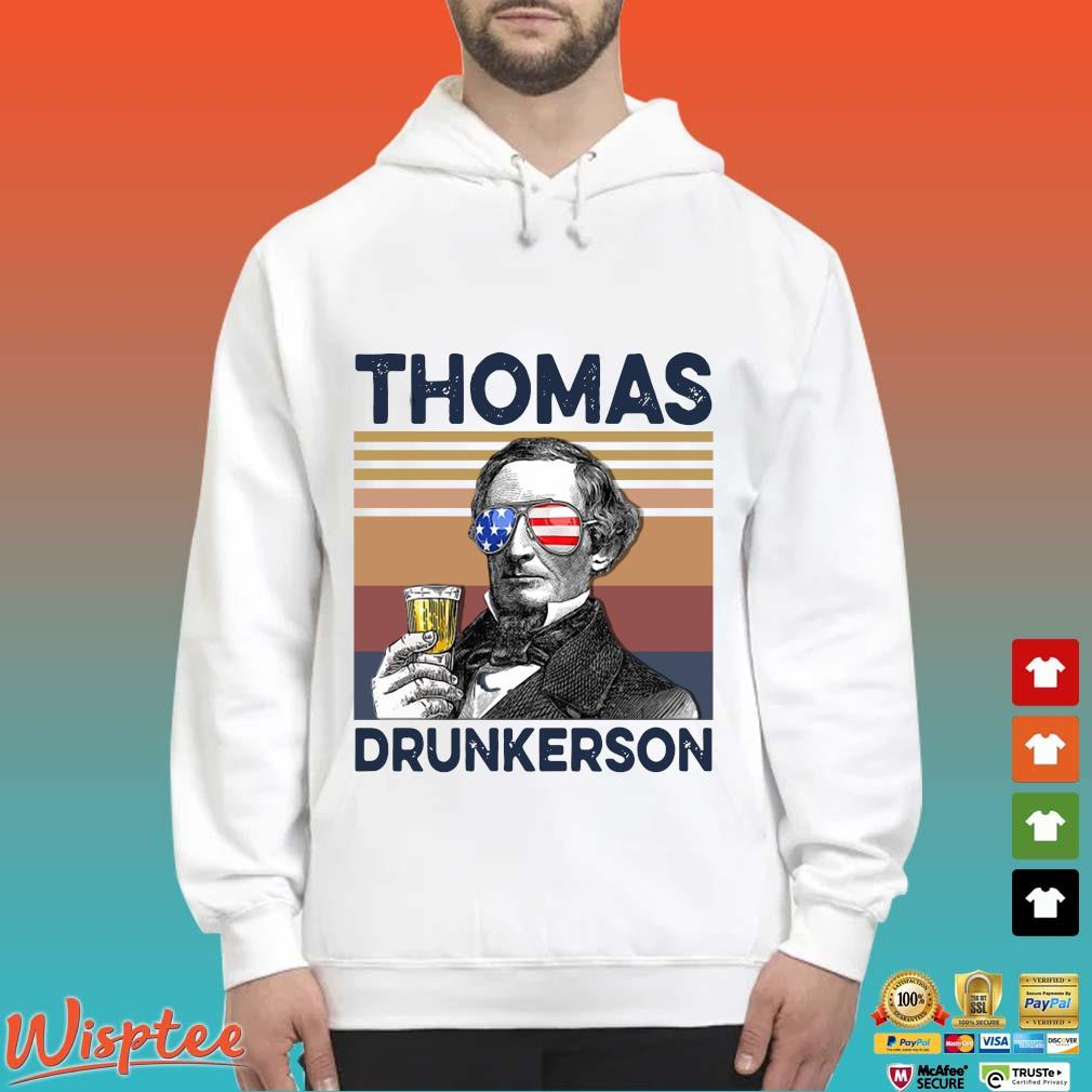 US Drink Thomas Drunkerson Independence Day Vintage Shirt Hoodie trang
