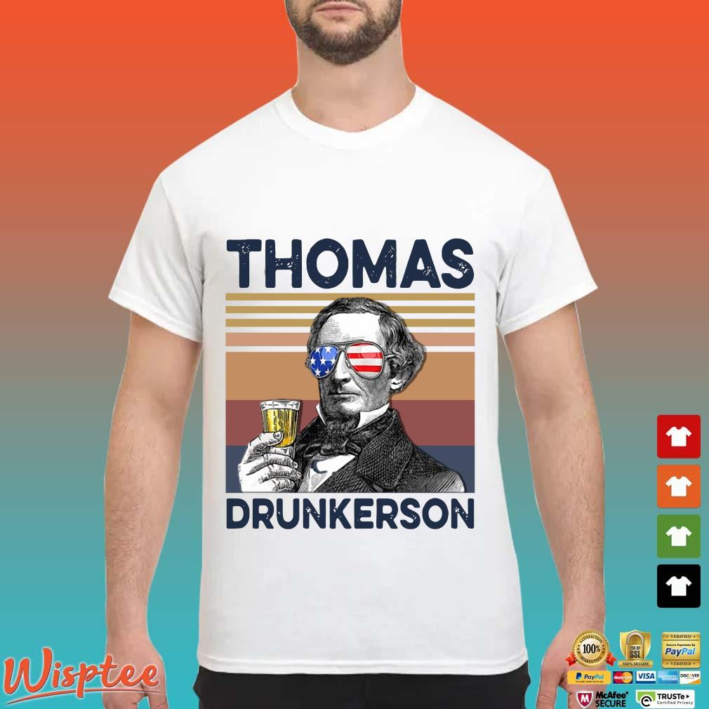 US Drink Thomas Drunkerson Independence Day Vintage Shirt